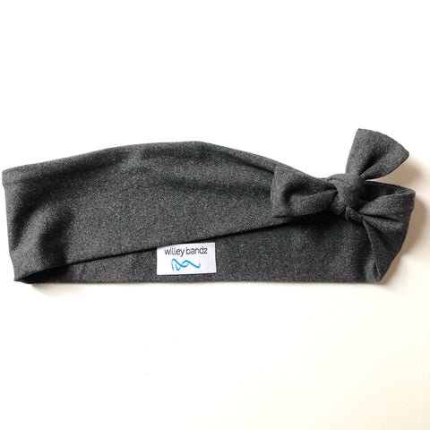 Dark Heathered Grey 2-inch headband