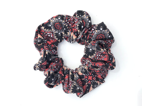 Earth Tone Paisley Scrunchie
