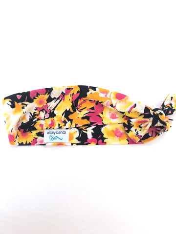 Yellow and Pink Floral 2-inch headband