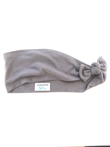 Solid Grey 3-inch headband
