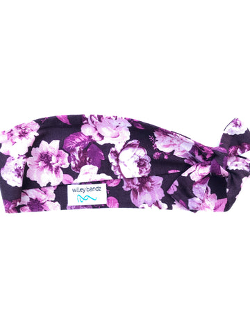 Many Shades of Purple Floral 2-inch headband