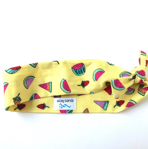 Watermelon on Yellow 2-inch headband