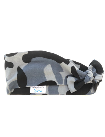 "Blue and Grey Camo 3"" Headband"