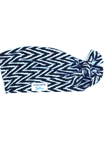 "Black and White Chevron 3"" Headband"