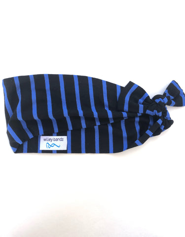 Blue and Black Stripe 3-inch Headband