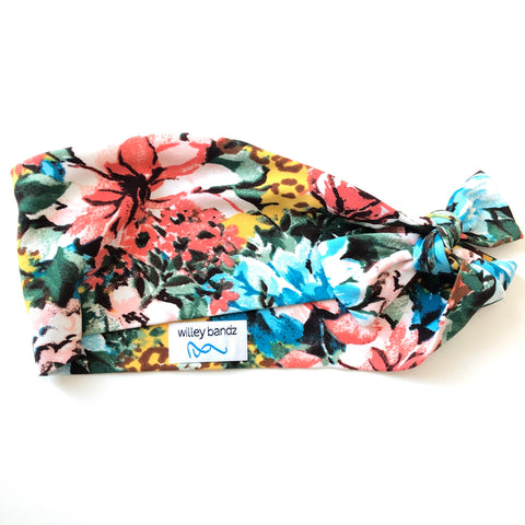 Floral on Yellow Leopard 3-inch headband