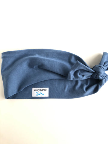 Steel Blue 3-inch headband