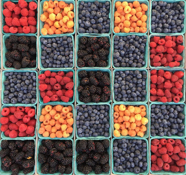 grid of various berries