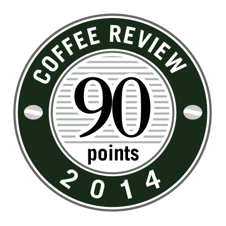 90 Points in 2014 Coffee Review Badge.