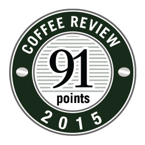 91 Points in 2015 Coffee Review Badge.