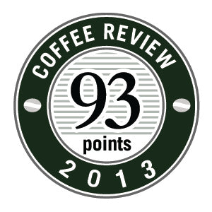 93 Points in 2013 Coffee Review Badge.