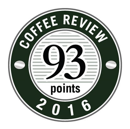 93 Points in 2016 Coffee Review Badge.