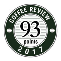 93 Points in 2017 Coffee Review Badge.