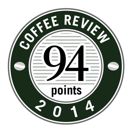 94 Points in 2014 Coffee Review Badge.
