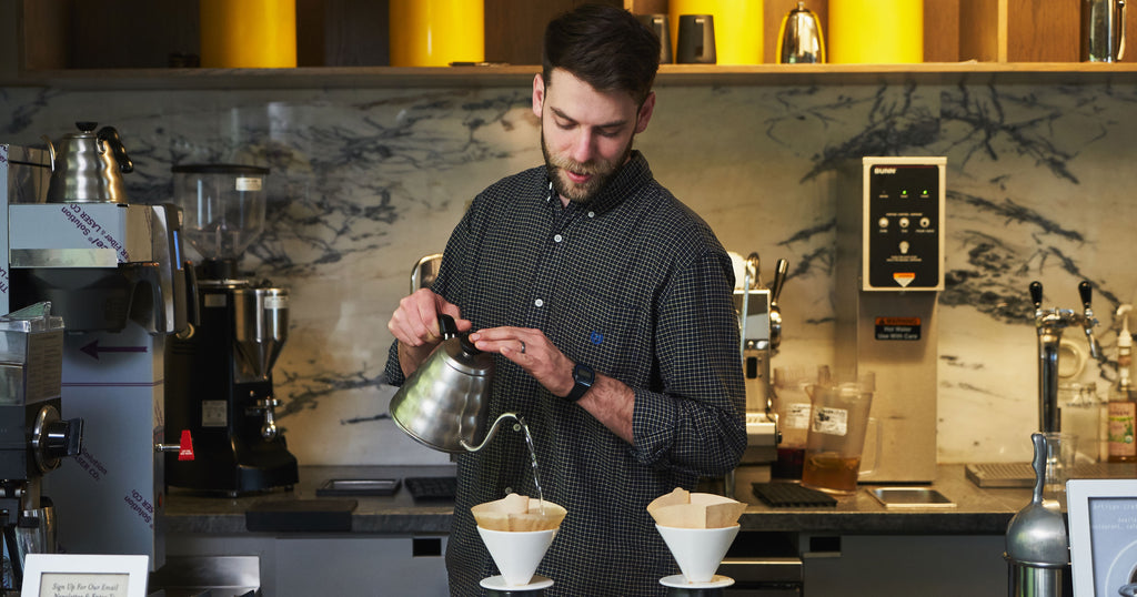 man making pour overs