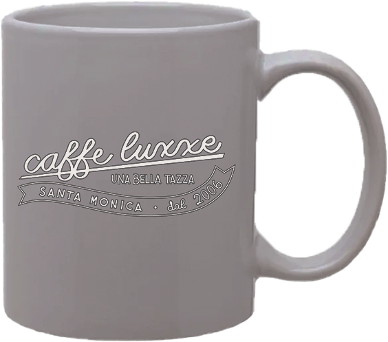 Coffee Mug with Caffe Luxxe Vintage Logo