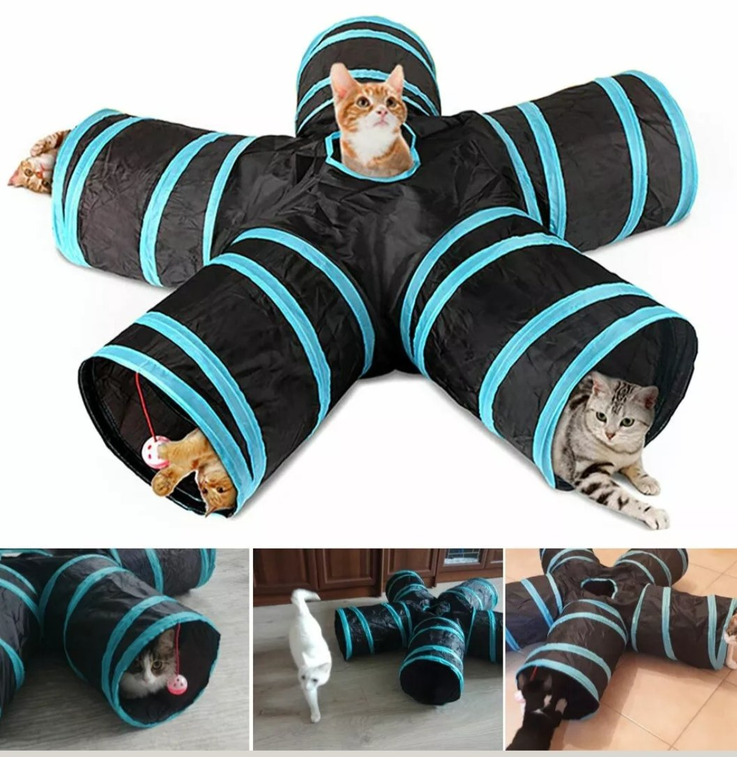 KittyTunnel™ - Collapsible Cat Tunnel Tube Kitty Tunnel