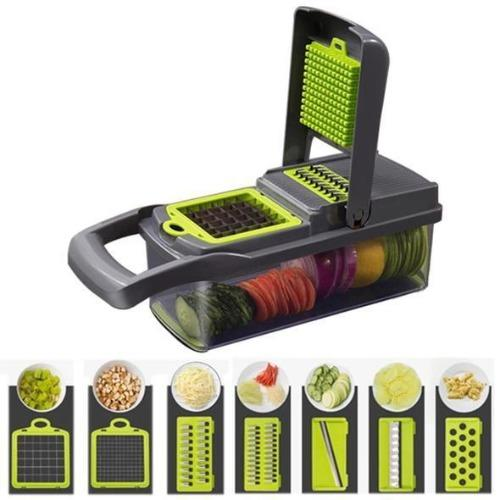 Cutez™ - 7 in 1 Multifunction Vegetable Cutter Food Slicer Vegetable Fruit Peeler Chopper Cutter