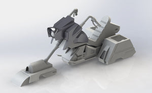 * PRE_ORDER * 1/18 Scale HR-32 Hovercycle - Unpainted Resin Kit