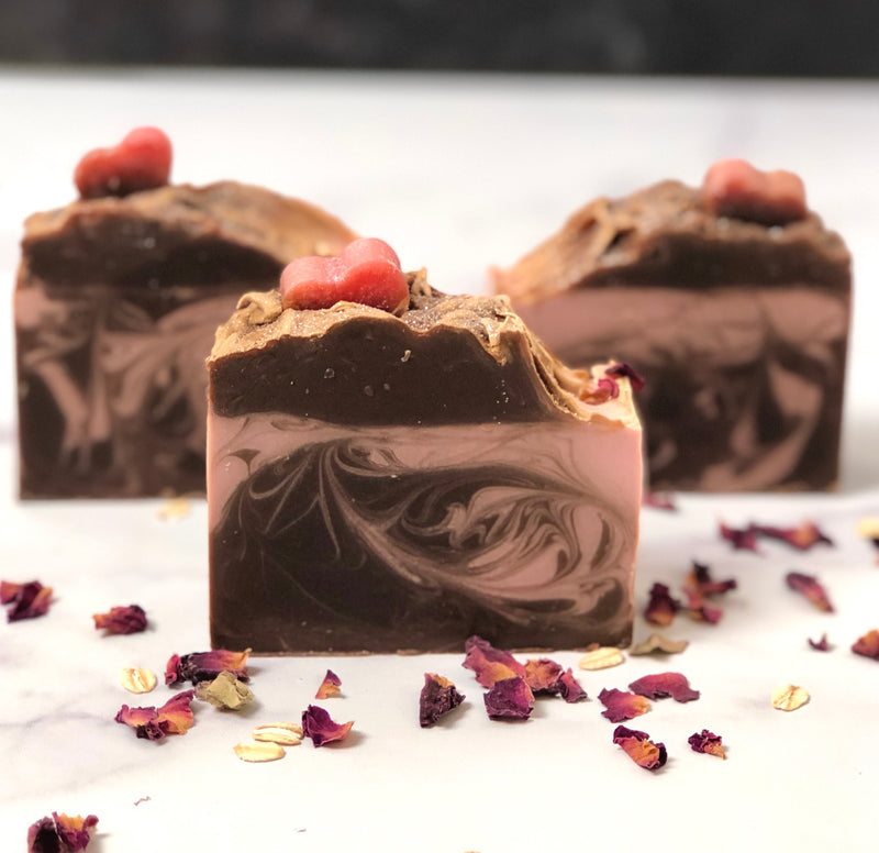 Raspberry Mocha Handcrafted Soap