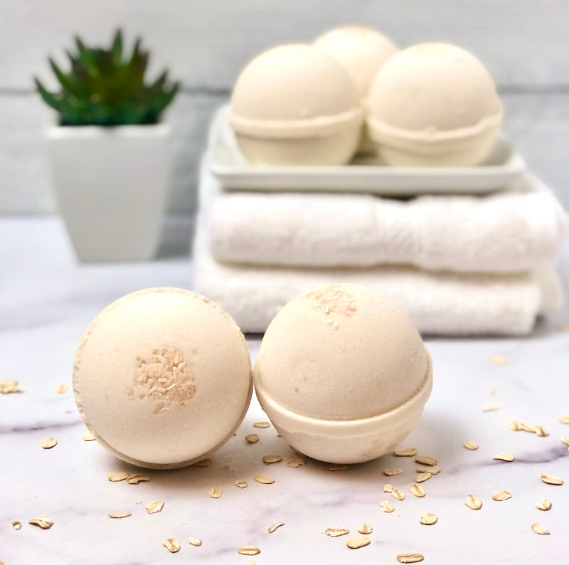 Oatmeal Milk & Honey Foaming Bath Bombs