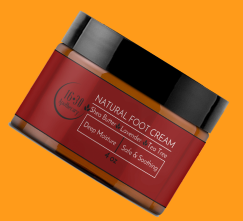 natural foot cream for cracked heels and dry feet