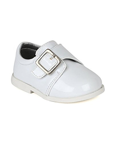 Auston AH59 Leatherette Velcro Buckle Strap Dress Church Shoe (Infant/Baby Boy) -