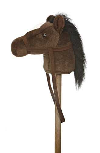 "Aurora World World Giddy-Up Stick Horse 37"" Plush, Dark"