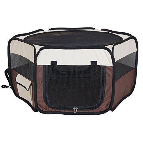 Aretues Premium Pet Tent- Washable Playpen/portable pet Tent dog exercise to outdoor water-resistant/small and medium pet house/Removable shade cover/Best Exercise Kennel for Your Dog, Cat,