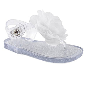 Wee Kids Baby-Girls Sandals Jelly Shoes (Infant Shoes Baby Shoes) Girls Summer Sandals Sparkle