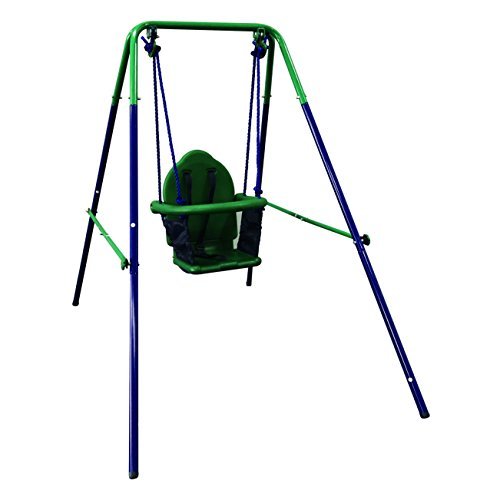ALEKO BSW02 Child Baby Toddler Indoor Outdoor Swing Blue and