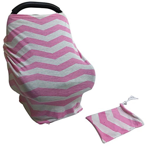4 In 1 - Multi Use Stretchy Baby Car Seat Covers Canopy, Breastfeeding Cover, Stroller Sunshade & Nursing Scarf For