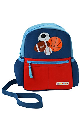 Alphabetz Harness Backpack, Red, Blue, Orange, One
