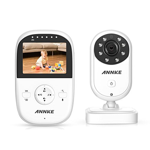 "ANNKE Premium Wireless Compact Video Baby Monitor with 2.4"" Color LCD Screen Controller Unit, Digital Camera, Infrared Night Vision, Two Way Talk Back, 2.4GHz Encrypted WiFi Long Transmission"