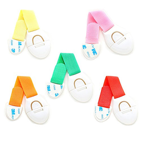 5 pcs Child Safety Locks Baby Safety Locks Multi-Purpose Baby Proof Child Safety Lock Adhesive Cabinet Lock Adhesive Furniture Latches For Baby Proofing Cabinets