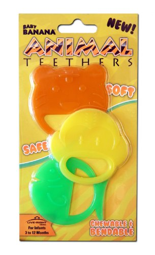 Baby Banana 3 Count Teethers,
