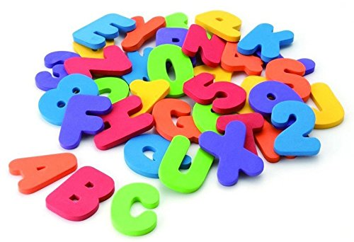 36 pcs/set (26 Letters + 10 Numbers ) Bath Toys Bath Letters Baby Early Alphabet Educational