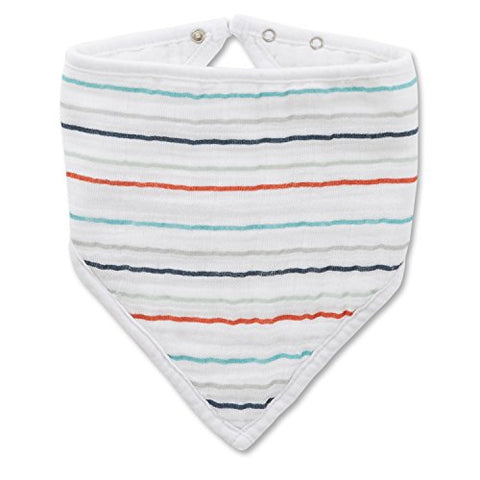 "aden + anais Bandana Bib, Tea Collection, 100% Cotton Muslin, Soft Absorbent 3 Layers, Adjustable, 8.5"" X 16"","