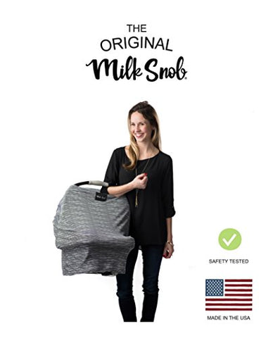 AS SEEN ON SHARK TANK The Original Milk Snob Infant Car Seat Cover and Nursing Cover Multi-Use 360° Coverage Breathable Stretchy B&W Signature