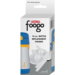 THERMOS FOOGO Replacement Straw Set for THERMOS 10-Ounce Straw Bottles, Set of Two