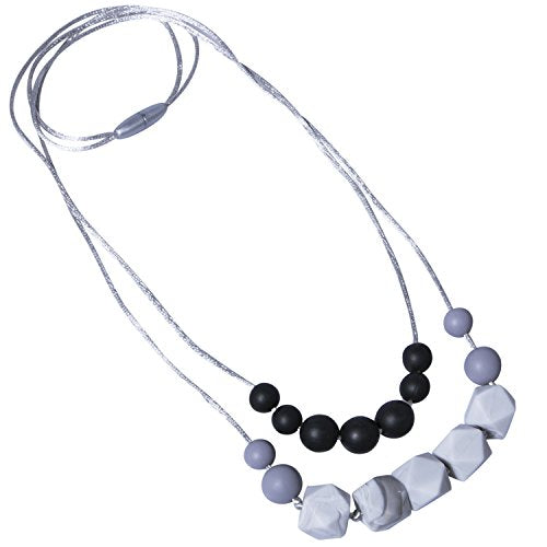 1-2 Packs of Baby Teething Necklace for Mom, Silicone Teething Beads, BPA