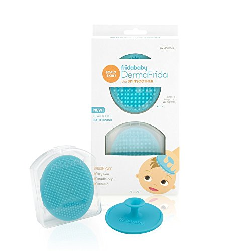 Baby Bath Silicone Brush by Fridababy | DermaFrida The SkinSoother Baby Essential for Dry Skin, Cradle Cap and Eczema (2