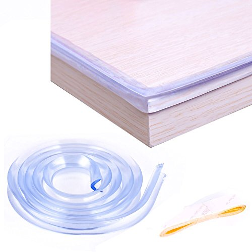 3.28 ft Soft Transparent Edge & Corner Protection Strip,clear edge baby proof, Healthy,Nontoxic , Environmental,Corner and Edge