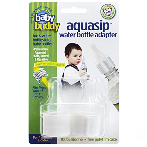 Baby Buddy AquaSip Water Bottle Adapter, White,