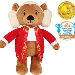 Vosego Amadeus Mozart Virtuoso Bear | 40 mins Classical Music for Babies | 15″ Award Winning Musical Soft Toy | Educational Toy | Perfect Gift for Infants Kids