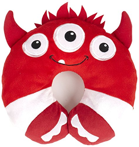 Animal Planet Travel Pillow for Kids, Red