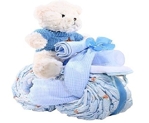 Alder Creek Gifts Tricycle Diaper Cake-Boy, 27