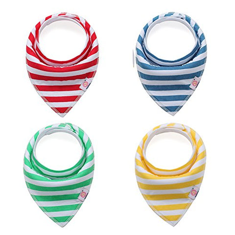 Baby Dribble Bibs Bandana for Boys Girls,Super Absorbent 100% Cotton, Fits Newborn