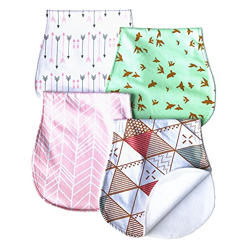 ARNZION Baby Burp Cloths Baby Burp Set Curved Absorbent and Soft Valuable 4