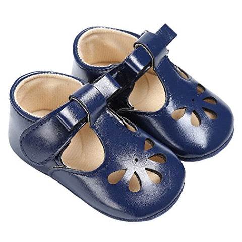 Baby Girls Christening Baptism Mary Jane Classic Hollow Princess Dress Flat